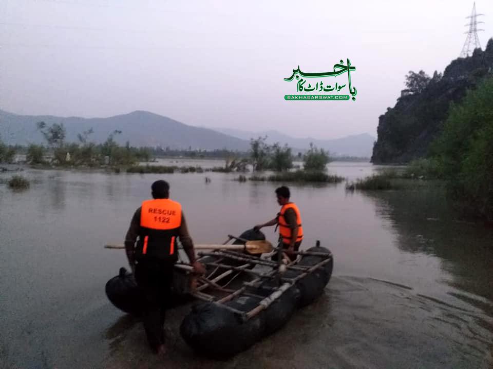 سوات، دریا میں ڈوبنے والے نوجوانوں میں سے ایک کی لاش تاحال نہ مل سکی
